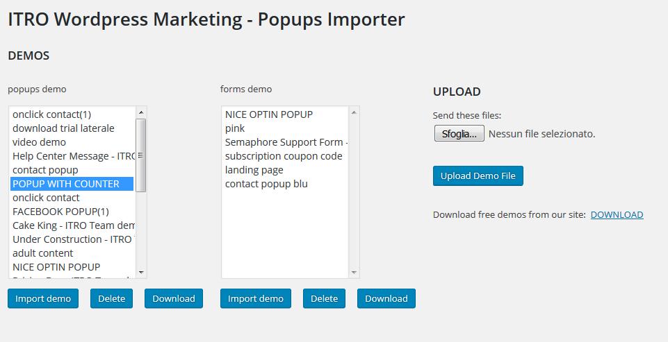 ITRO WordPress Marketing Plugin Guide: how to use the plugin