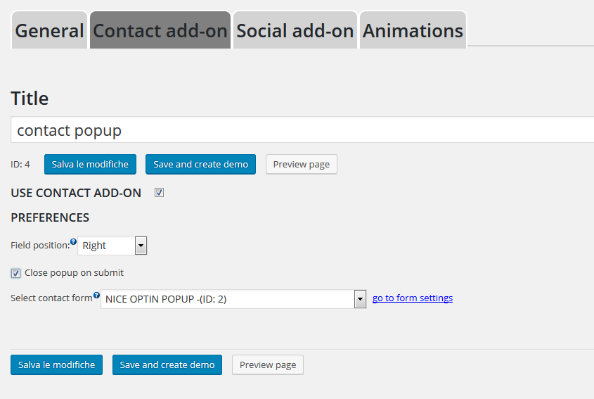 CONTACT FORM ADDON